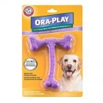 Arm & Hammer Ora-Play Dental T-Bone Chew Toy Peanut Butter Flavor