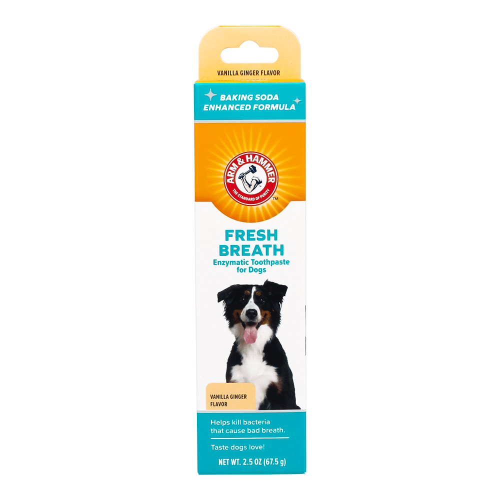 Arm & Hammer Fresh Breath Enzymatic Toothpaste For Dogs Vanilla Ginger Flavor